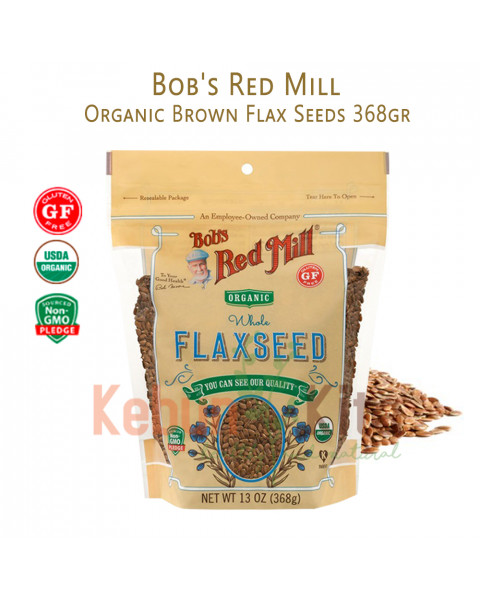 Bob's Red Mill Organic Flax Seeds 13 oz ( 368gr )