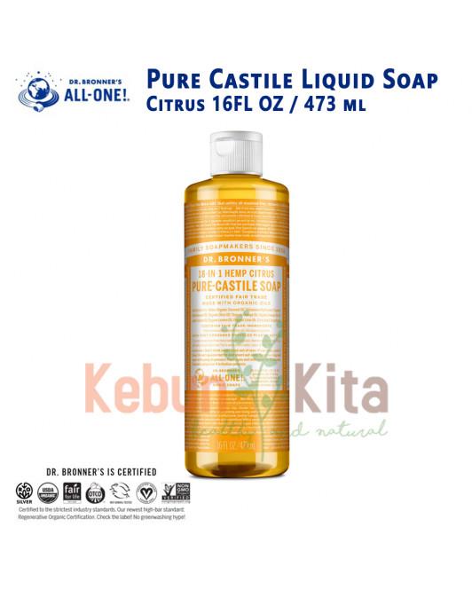 Dr Bronner's Citrus Pure Castile Liquid Soap