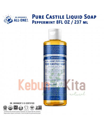 Dr Bronner's Peppermint Pure Castile Liquid Soap