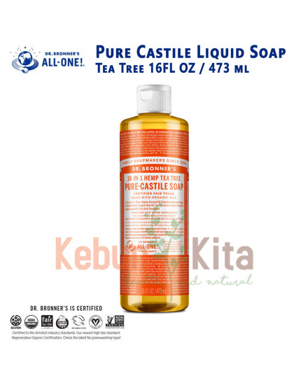 Dr Bronner's Tea Tree Pure Castile Liquid Soap