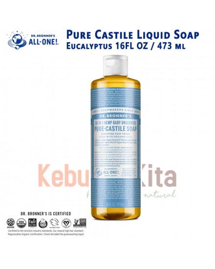 Dr Bronner's Unscented Pure Castile Liquid Soap 237 ml