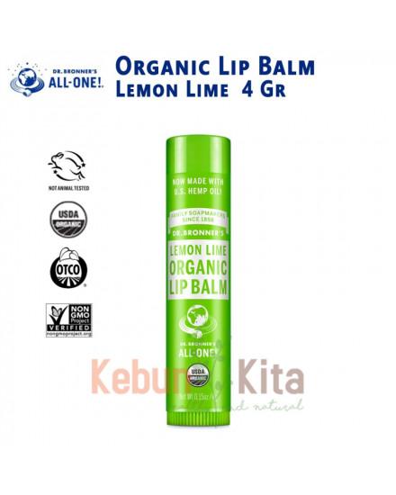 Dr Bronner's Organic Lemon Lime Lip Balm 4 Gr