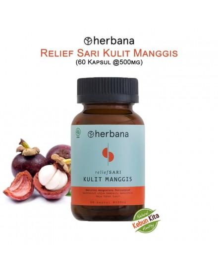Herbana Relief Sari Kulit Manggis - 60 Kapsul