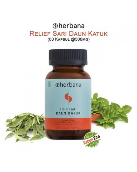 Herbana Relief Sari Daun Katuk - 60 Kapsul