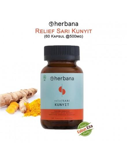Herbana Relief Sari Kunyit - 60 Kapsul