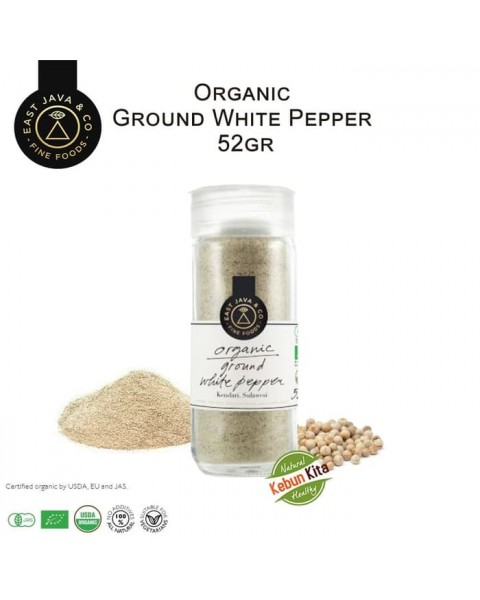 Organic Ground White Pepper 52gr (Lada Putih Bubuk)