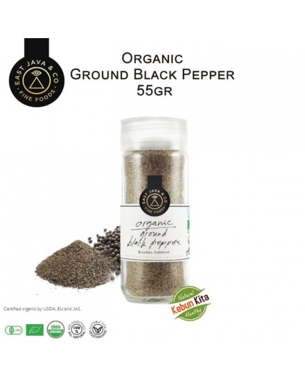 Organic Ground Black Pepper 55gr (Lada Hitam Bubuk)