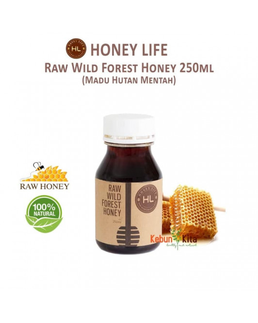 Honey Life Raw Wild Forest Honey ( Madu Hutan Mentah )