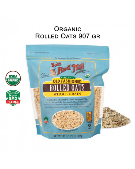Bob's Red Mill Organic Rolled Oats 453gr