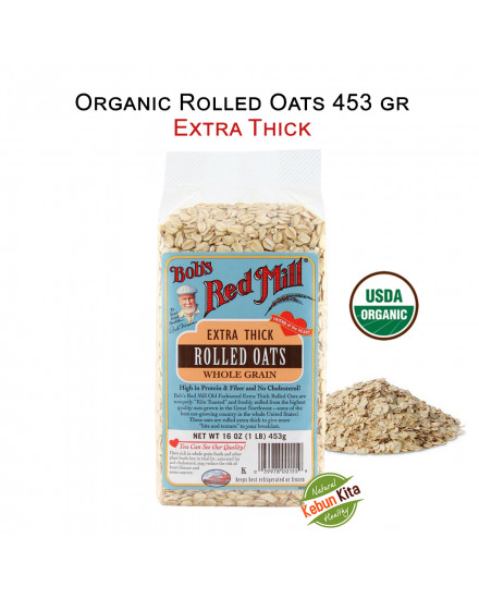 Bob's Red Mill Organic Rolled Oats EXTRA THICK 453gr