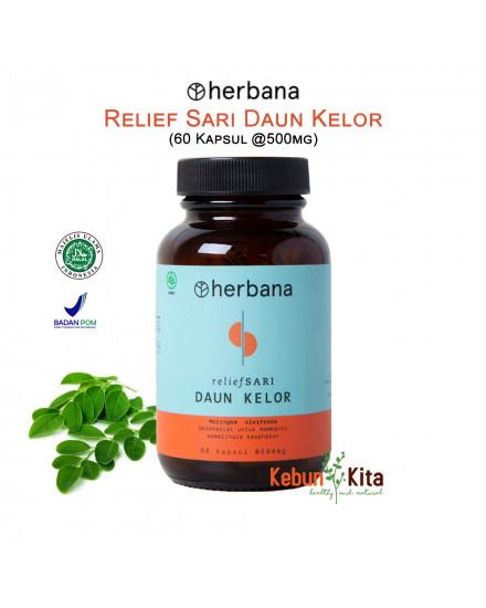 Herbana Relief Sari Daun Kelor 60 Kapsul