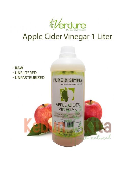 Verdure Apple Cider Vinegar 1 Liter with The Mother (Cuka Apel)