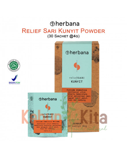 Herbana Relief Sari Powder Kunyit - 30 Sachet