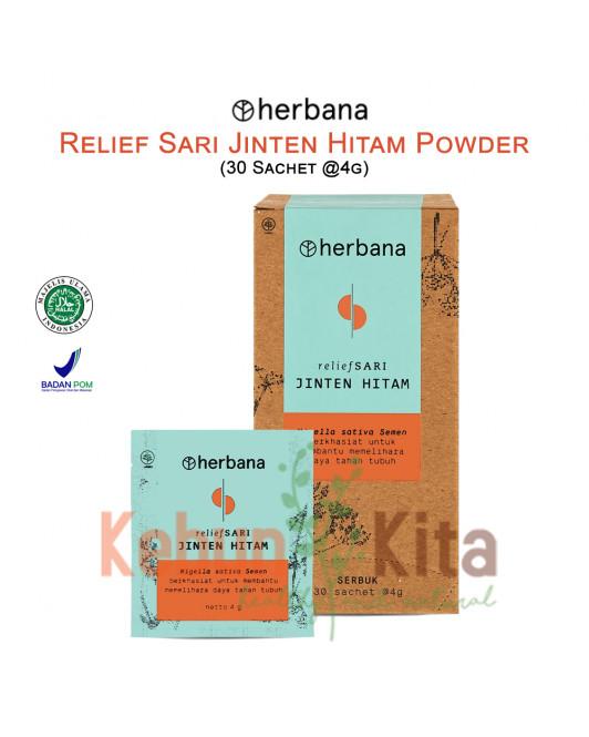 Herbana Relief Sari Powder Jinten Hitam - 30 Sachet